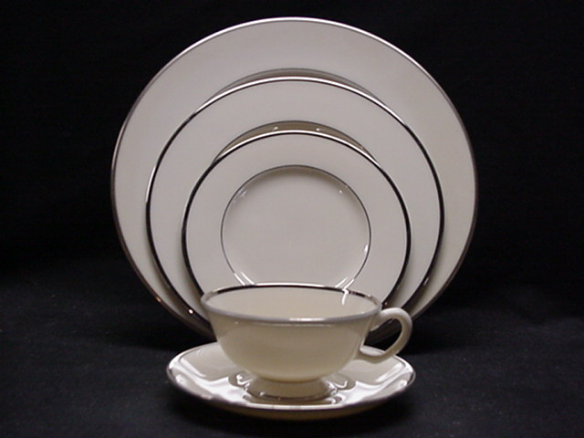 Make sure your browser can show photos and reload this page to see Lenox China Montclair B501 Salad plate 8 3/8