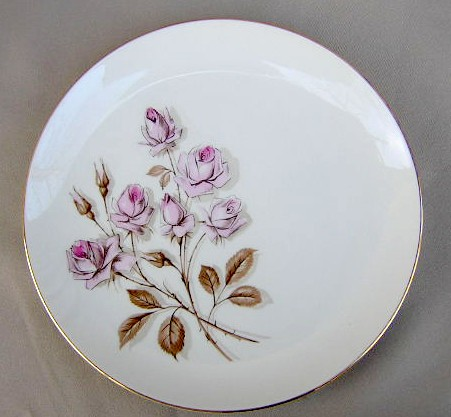 Make sure your browser can show photos and reload this page to see Fine Arts China Eternal Rose  Dinner plate 10 3/4