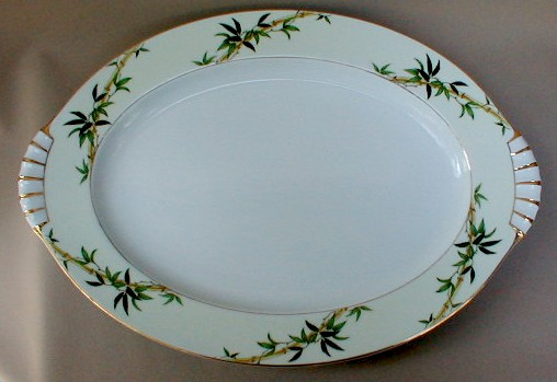 Make sure your browser can show photos and reload this page to see Kent (Japan) China Bali Hai  Platter, large 17 3/4