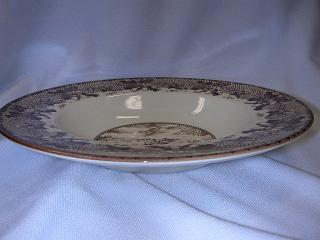 Make sure your browser can show photos and reload this page to see Johnson Brothers Dinnerware  Historic America Soup bowl, rim shape 8-7/8