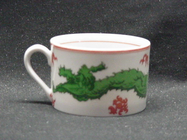 Make sure your browser can show photos and reload this page to see Fitz & Floyd China Dragon Crest Cup only (no saucer) 2 1/8