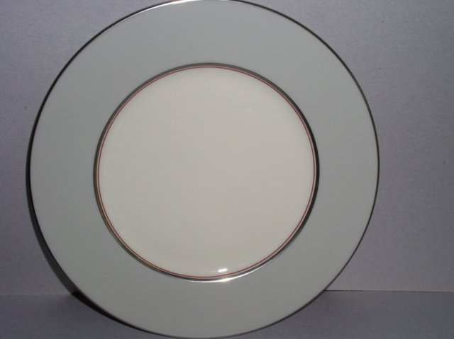 Make sure your browser can show photos and reload this page to see Lenox China Dubarry Grey X433 Dinner plate