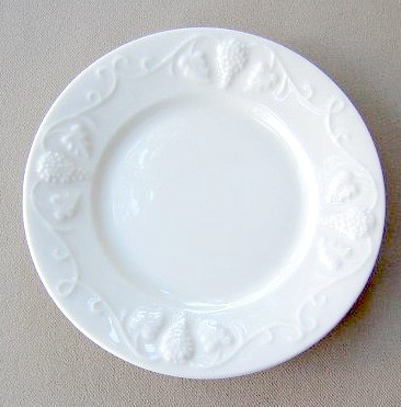 Make sure your browser can show photos and reload this page to see Red-Cliff China Grape [C2]  Salad plate 8 1/4
