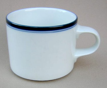 Make sure your browser can show photos and reload this page to see Dansk China Allegro - Blue Cup only (no saucer)