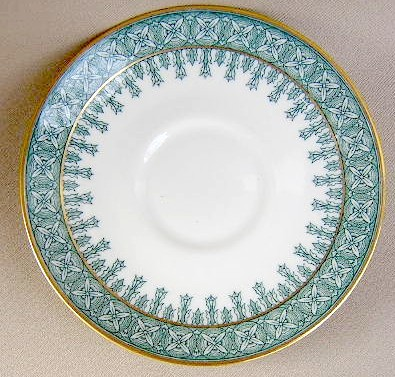 Make sure your browser can show photos and reload this page to see Haviland China Cambridge Saucer only green