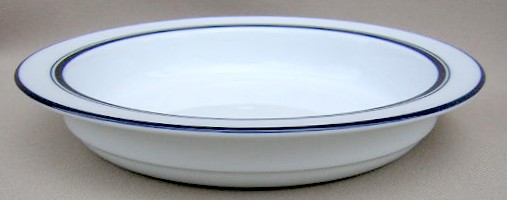 Make sure your browser can show photos and reload this page to see Dansk China Christianshavn - Blue Soup bowl, rim shape  8 1/8