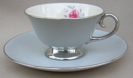 Make sure your browser can show photos and reload this page to see Flintridge China Miramar - Rim Cup and saucer set