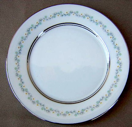 Make sure your browser can show photos and reload this page to see Oxford (Div Of Lenox) China Holyoke Bread and butter plate 6 1/2