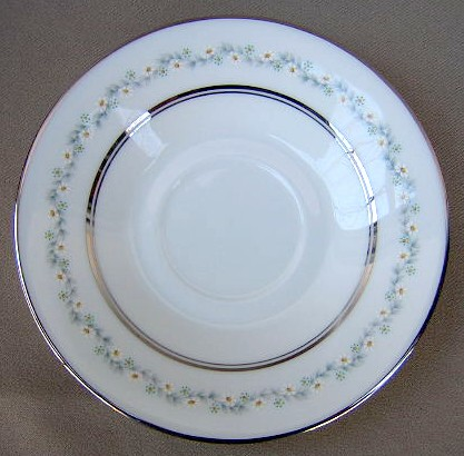 Make sure your browser can show photos and reload this page to see Oxford (Div Of Lenox) China Holyoke Demitasse (saucer only) 4 7/8