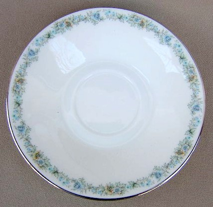 Make sure your browser can show photos and reload this page to see Oxford (Div Of Lenox) China May Morn Saucer only 5 7/8