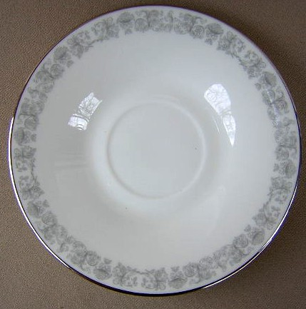 Make sure your browser can show photos and reload this page to see Oxford (Div Of Lenox) China Eventide Saucer only 5 7/8