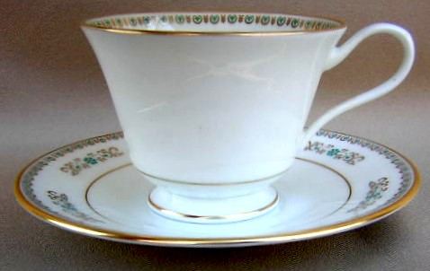 Make sure your browser can show photos and reload this page to see Oxford (Div Of Lenox) China Hampshire Cup and saucer set