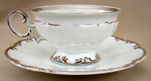 Make sure your browser can show photos and reload this page to see Hutschenreuther China Revere 8045 Cup and saucer set (2 plat bands)