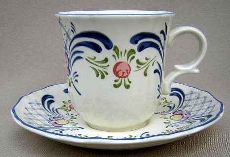 Make sure your browser can show photos and reload this page to see Mikasa China Romance DC010 Cup and saucer set
