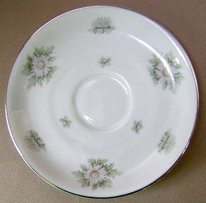 Make sure your browser can show photos and reload this page to see Franconia - Krautheim China Silver Thistle Saucer only