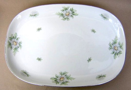 Make sure your browser can show photos and reload this page to see Franconia - Krautheim China Silver Thistle Platter, medium