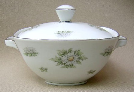 Make sure your browser can show photos and reload this page to see Franconia - Krautheim China Silver Thistle Sugar bowl with lid