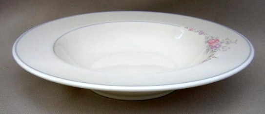 Make sure your browser can show photos and reload this page to see Pfaltzgraff China Trousseau Soup bowl, rim shape