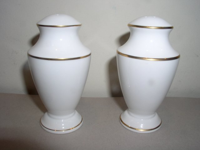 Make sure your browser can show photos and reload this page to see Lenox China Classic Edition Salt and Pepper set 3 3/4