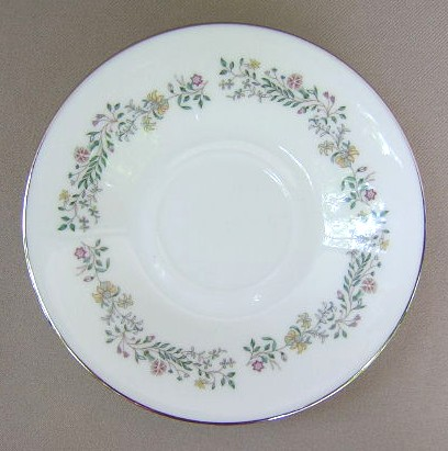 Make sure your browser can show photos and reload this page to see Oxford (Div Of Lenox) China Tenderly Saucer only