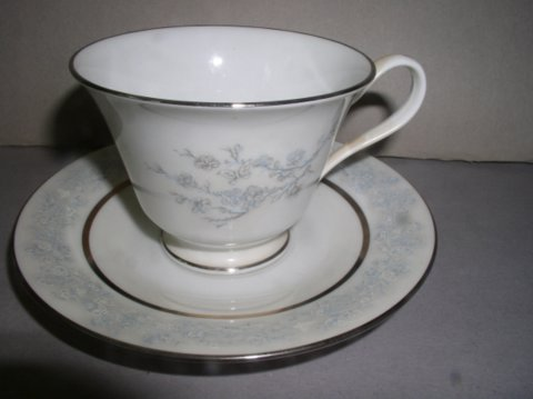 Make sure your browser can show photos and reload this page to see Oxford (Div Of Lenox) China Twilight Dell Cup and saucer set