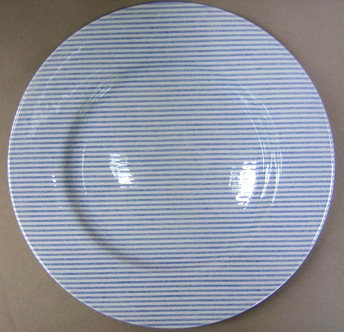 Make sure your browser can show photos and reload this page to see Lauren, Ralph-China Button Down-Blue  Dinner plate