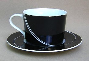 Make sure your browser can show photos and reload this page to see Block China Black Pearl Cup and saucer set