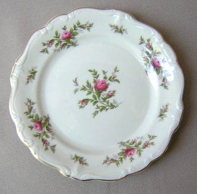 Make sure your browser can show photos and reload this page to see Rosenthal - Continental China Antoinette Bread and butter plate (pompadour shape)