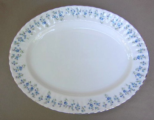 Make sure your browser can show photos and reload this page to see Royal Albert China Memory Lane Platter, medium 13