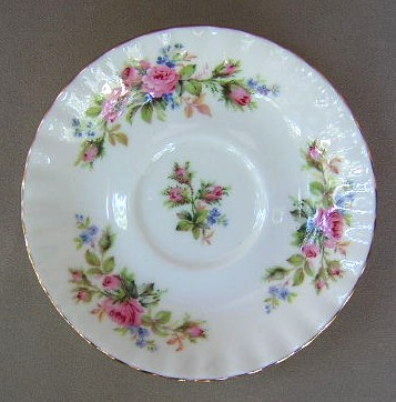 Make sure your browser can show photos and reload this page to see Royal Albert China Moss Rose - Montrose Saucer only 5 1/2