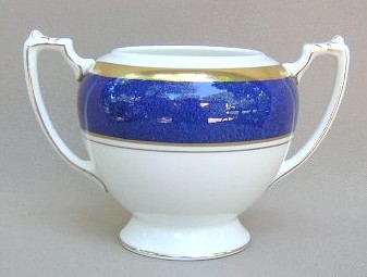 Make sure your browser can show photos and reload this page to see Coalport China Athlone - Blue  Sugar bowl (no lid)