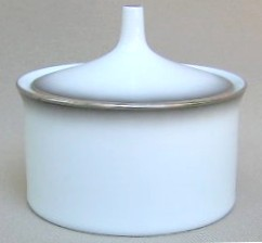 Make sure your browser can show photos and reload this page to see Rosenthal - Continental China Evensong 4044 Sugar bowl with lid