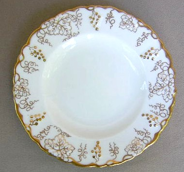 Make sure your browser can show photos and reload this page to see Royal Crown Derby China Vine - Gold A775 Bread and butter plate 6 1/4
