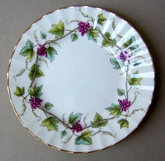 Make sure your browser can show photos and reload this page to see Royal Worcester China Bacchanal - Cream Z2243 Bread and butter plate 6 1/8