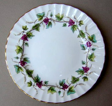 Make sure your browser can show photos and reload this page to see Royal Worcester China Bacchanal - Cream Z2243 Salad plate 8 1/8