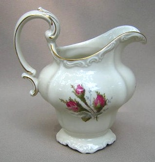 Make sure your browser can show photos and reload this page to see Rosenthal - Continental China Moss Rose - Ivory - Pompadour Creamer
