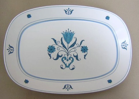 Make sure your browser can show photos and reload this page to see Noritake China Blue Haven 9004 Platter, medium