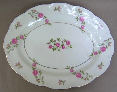 Make sure your browser can show photos and reload this page to see Haviland China Delaware Platter, small (NY); 11 1/4