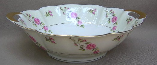 Make sure your browser can show photos and reload this page to see Haviland China Delaware Round vegetable  (NY)