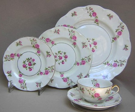 Make sure your browser can show photos and reload this page to see Haviland China Delaware Place setting 5-piece