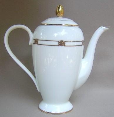 Make sure your browser can show photos and reload this page to see Gorham China Triomphe Coffeepot and lid