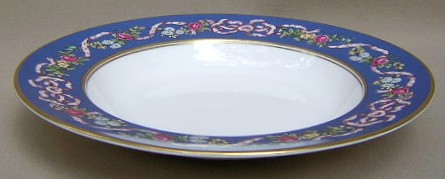 Make sure your browser can show photos and reload this page to see Spode China Ribbons & Roses Y8553 Soup bowl, rim shape