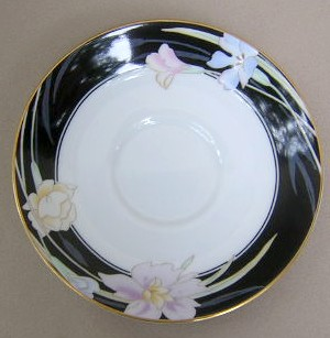 Make sure your browser can show photos and reload this page to see Mikasa China Charisma L9050/UP Saucer only (black)