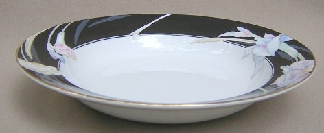 Make sure your browser can show photos and reload this page to see Mikasa China Charisma L9050/UP Soup bowl, rim shape (black)