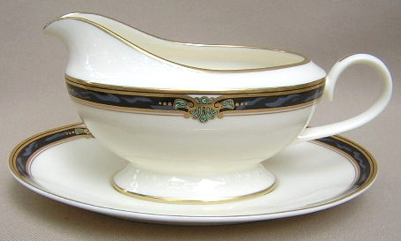 Make sure your browser can show photos and reload this page to see Gorham China Huntington Gravy -separate stand