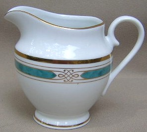 Make sure your browser can show photos and reload this page to see Gorham China Regalia Court - Teal Creamer