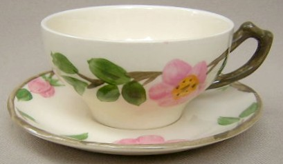 Make sure your browser can show photos and reload this page to see Franciscan China Desert Rose - England  Cup and saucer set