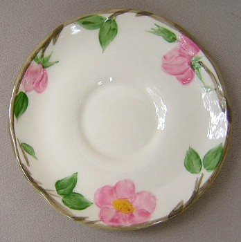Make sure your browser can show photos and reload this page to see Franciscan China Desert Rose - England  Saucer only