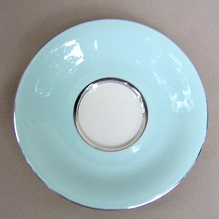 Make sure your browser can show photos and reload this page to see Castleton - USA China Turquoise Saucer only  5 7/8