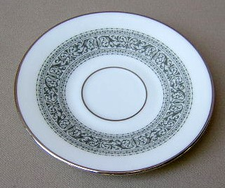 Make sure your browser can show photos and reload this page to see Oxford (Div Of Lenox) China Filigree Demitasse (saucer only) 5